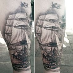 Boat calf tattoo for men - 100 Boat Tattoo Designs  <3 <3