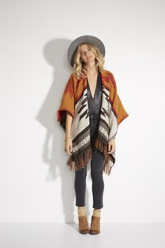 a seasonal must-have to add effortless flare to any outfit || get the 'Seaside Voyage Poncho Blanket' now
