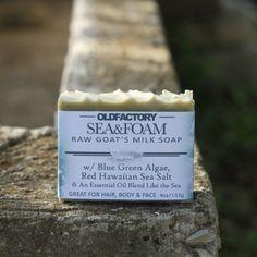 Old Factory Soap goats milk salt scrub with red hawaiin sea salt