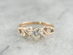 RESERVED Swirling Victorian European Cut Diamond von MSJewelers