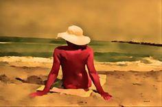 "Saatchi Art Artist ACQUA LUNA; Painting, ""11-Armonía en la playa ."" #art"