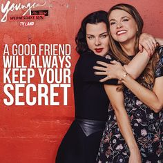 Thank goodness for that, right? Tag the friend that keeps your secrets. Click to discover full episodes of Younger on TV Land!