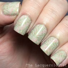 The Lacquerologist: The Digit-al Dozen Does Nature #3: Double Stamped Leaves