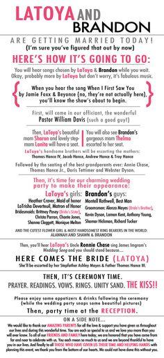 Storybook Wedding Program