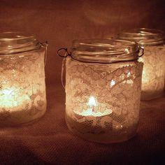 What I Always Wanted | jam jar tea light holder