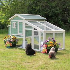 The Holly Chicken Coop Package – Farm Fowl Chicken Coop Run, Chicken Pen, Coops, Guinea Pigs, Green, Sage, Goodies, Indoor, Chicken Coops
