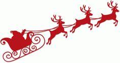 Silhouette Design Store - View Design santa sleigh and reindeer Christmas Templates, Christmas Svg, Christmas Printables, Christmas Pictures, Christmas Projects, Christmas Decorations, Christmas Ornaments, Kirigami, Santa Sleigh Silhouette