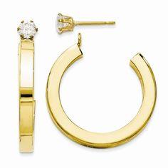 Spring Style Lovethislook Hoop Earring Jackets In Gold 14k Earrings