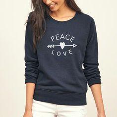 70af8c47 PEACE & LOVE letter print 2018 new hip-hop women sweatshirt moleton  feminino tracksuit femme