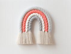 Mini Pastel Fiber Rainbow and Mini Unicorn Ensemble Rainbow Swirl, Pom Pom Trim, Hand Wrap, Handmade Items, Handmade Gifts, Yarn Crafts, Rainbow Colors, Fiber Art, I Shop