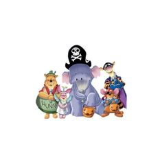 Halloween 100 Acre Woods > Disney Clipart > Disney-Clipart.com ❤ liked on Polyvore featuring disney
