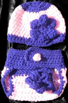2 Piece Preemie Newborn Baby Girl Crochet Set by GssBeauty on Etsy, $25.00