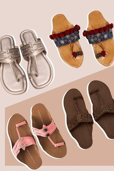 Simple, comfortable, yet so perfect with Indian wear, Kolhapuris make great additions to any bride's footwear lineup. Wedding Wear, Wedding Shoes, Bridal Flats, Blue Wedges, Shoe Wardrobe, T Strap Sandals, Bollywood Celebrities, Bridal Looks, Indian Wear