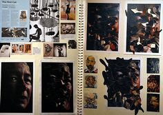 Paper Cuttings, Monoprints and Collagraphy: Exciting A Level Portraiture A Level Art Sketchbook, Sketchbook Layout, Sketchbook Pages, Sketchbook Ideas, Journal Inspiration, Sketchbook Inspiration, Roy Lichtenstein, Illustration Story, Art Illustrations