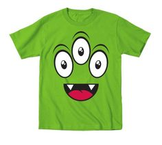 Monster Eyes - Juvy Shirt - KEY LIME - 5/6J Humor by Kid Teez http://www.amazon.com/dp/B00CIUN1JM/ref=cm_sw_r_pi_dp_VCayub1A4GP3F