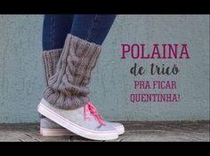 COMO FAZER POLAINAS PARA BOTA EM TRICO - YouTube Knit Shoes, Sock Shoes, Boot Cuffs, Vans Sk8, Knitting Stitches, Neck Warmer, Leg Warmers, Knit Crochet, High Top Sneakers