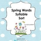 FREE Spring words syllable sort.