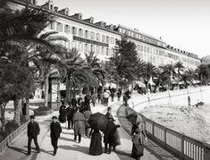 NICE. Le quai Masséna (avenue de Verdun) en 1882, avant la couverture du Paillon.