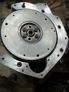 Flange motor AP x Chevette                                                                                                                                                                                 Mais
