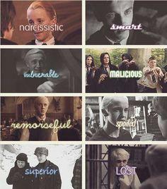 The characteristics of Draco Malfoy.