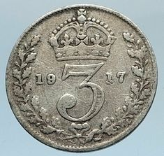 As a result of the First World War the empires of his first cousins Tsar Nicholas II of Russia and Kaiser Wilhelm II of Germany fell while the British Empire expanded to its greatest effective extent. Old British Coins, Great Britain United Kingdom, Tsar Nicholas Ii, Coin Values, Old Money, World Coins, Rare Coins, King George, Old English