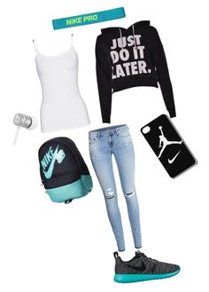 """Just DO IT"" by jinxstitched ❤ liked on Polyvore featuring H&M, Splendid, NIKE and Beats by Dr. Dre"
