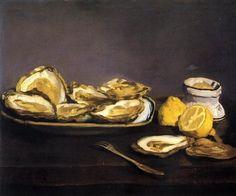 Oysters - Edouard Manet #art #painting #edouardmanet