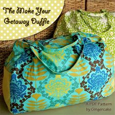 Make Your Get Away Duffle Luggage Bag PDF Pattern Ebook by ginia18