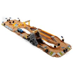 Your little monster truck fan can now create his own monster truck racecourse, with the Road Rippers Bigfoot Ragin' Arena Track Set complete with mini monster trucks. With features like crushed cars to run over and a see-saw bridge, your little one is bound to enjoy this.