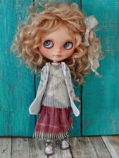 Blythe doll OOAK Boho set - Jacket, long skirt and shirt