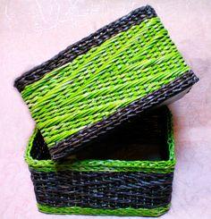 Плетение из газет плетение зигзаг