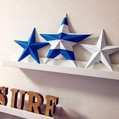 【折り紙・立体星】インテリアになるバーンスター折り方   Okaeri