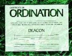 Certificate of Ordination, Deacon With Signatures, 4 Colors (Pack of 6) 465109