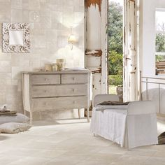 Cotto travels through time to characterise contemporary styles with the charm and simplicity of a modern classic. Fabric Wallpaper, Porcelain Tile, Modern Classic, Contemporary Style, Tiny House, Shabby Chic, Tiles, Industrial, Flooring