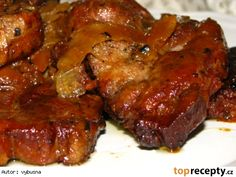 Pecena krkovicka z pomaleho hrnca Pork Hock, Tandoori Chicken, Slow Cooker Recipes, Crockpot, Beef, Food And Drink, Cooking, Ethnic Recipes, Cooking Recipes