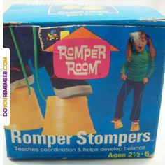 Vintage 1970 Romper Room Romper Stompers - Had these! I was also on Romper Room ! 1970s Childhood, My Childhood Memories, Childhood Toys, Great Memories, School Memories, Retro Toys, Vintage Toys, 1970s Toys, Vintage Stuff