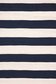 Dash And Albert Catamaran Stripe Navy/Ivory Indoor/Outdoor Rug by Dash & Albert is available at American Country Home Store.