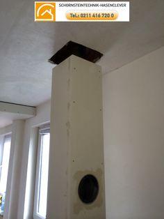 Schornsteintechnik Schornsteinbauteile Hasenclever 3 Ein Deckendurchbruch führt den Schacht in das Dachgeschoss http://schornsteinbauteile.de/