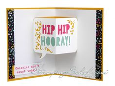 Playing with the new Party Pop Up Thinlits from Stampin' Up.  See my video on my blog