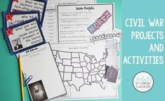 This blog post for teachers features 6 hands-on Civil War projects and activities that students will love.  #vestals21stcenturyclassroom #civilwar #civilwarprojects #civilwarideas #civilwarprojectbasedlearning #funcivilwarprojects