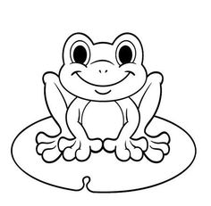coloring pages frog butterfly and flower with ladybug - Frog Coloring Pages Free Printable 2