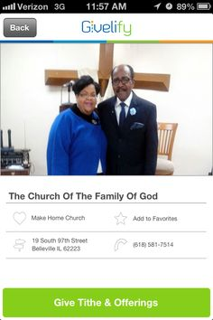 The Church of the Family of God in Belleville, Illinois #GivelifyChurches