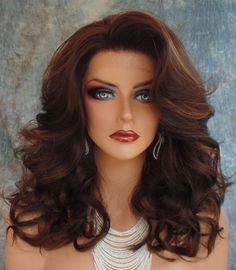 LACE FRONT WIG HEAT FRIENDLY GORGEOUS SEXY BOUNCY CURLS FS4.27 US SELLER CC285 #FullWig