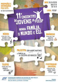 11º Encontro de Jovens da FEESP em São Paulo - SP - http://www.agendaespiritabrasil.com.br/2015/08/22/11o-encontro-de-jovens-da-feesp-em-sao-paulo-sp/