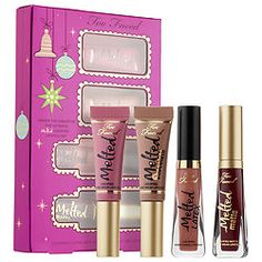 Too Faced - Under The Kissletoe The Ultimate Liquified Lipstick Set  #sephora