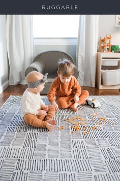 Spending more time at home means more messes to clean. Shop our machine washable rugs to clean with ease!