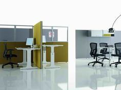 INDIVIDUAL OFFICE WORKSTATION FOR OPEN SPACE OP COLLECTION BY MASCAGNI | DESIGN CLAUDIO BELLINI