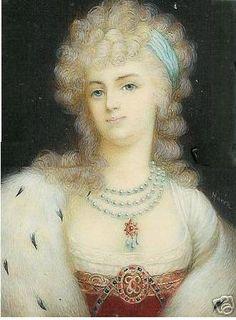 Miniature of Marie Antoinette, 1789 by Anton von Maron -