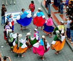 Traditional dace festivals and performances happen frequently throughout Exuador, especially in main cities.   www.elnomad.com Twitter/elnomad - #onlyinECUADOR