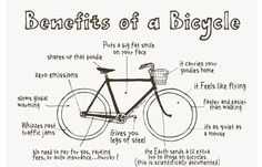 Just a few reasons why you should ride a bike...